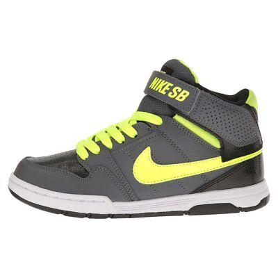 NIKE Kids' Mogan Mid 2 Jr Skateboarding Shoes Youth Sizes Dark Gray / Volt NIB  Mid Grey Kids Shoes