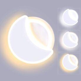 NEW Lightess 18W Indoor LED Wall Light 3 Color Temp Adjustable Wall Lamp Moon