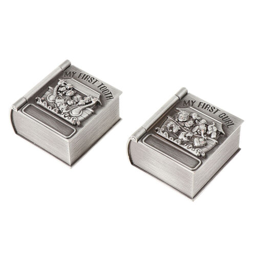 как выглядит Metal Baby First Curl And First Tooth Box Container Cute Kids Keepsake Gift фото