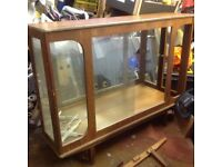 1960's WOOD AND GLASS CHINA CABINET