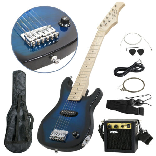 30 kids blue electric guitar with amp much more guitar combo accessory kit ebay. Black Bedroom Furniture Sets. Home Design Ideas