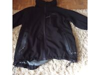 Ladies black/grey medium Trepass coat