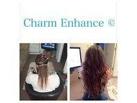 CHARM ENHANCE HAIR EXTENSION TECHNICIAN SALON & MOBILE BASED