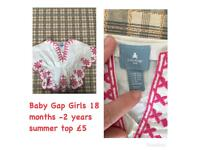 Baby Gap Summer Top