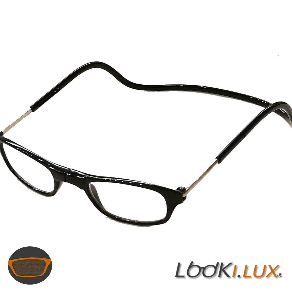 Herren Damen Lesebrille Magnet trennbar klassische Form schwarz oder braun