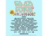 We Are Festival Sunday Tickets x4