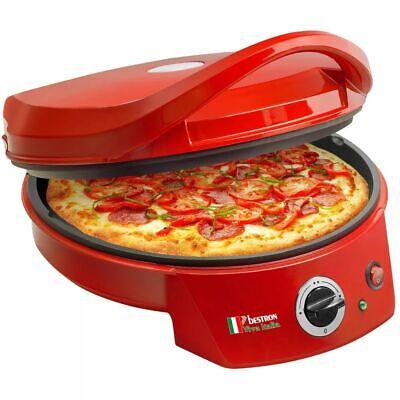 Horno de pizza parrilla de mesa antiadherente eléctrico Bestron 1800 W Rojo