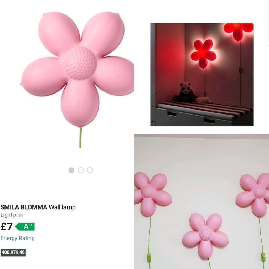 Ikea flower lights smila blomma x3 wall lamps in widnes cheshire ikea flower lights smila blomma x3 wall lamps aloadofball Images