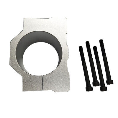 52mm Diameter Spindle Motor Mount Bracket Clamp For Cnc Engraving Silver