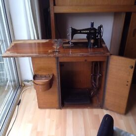 Awesome vintage and electric singer sewing machine