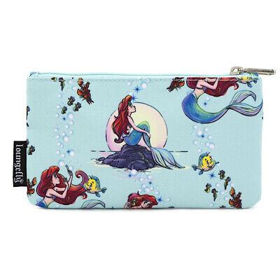 Nylon Pencil Bag (Loungefly Disney Princess Ariel The Little Mermaid Pencil Bag Zip Makeup)