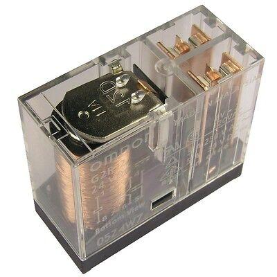 OMRON G2R-2-24 Relais 24V DC 2xUM 5A 1100R PCB Power Relay 855024