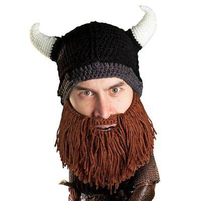 3eb852daaaf Beard Head Barbarian Looter Brown Warm Thermal Winter Ski Mask With Beanie  Hat