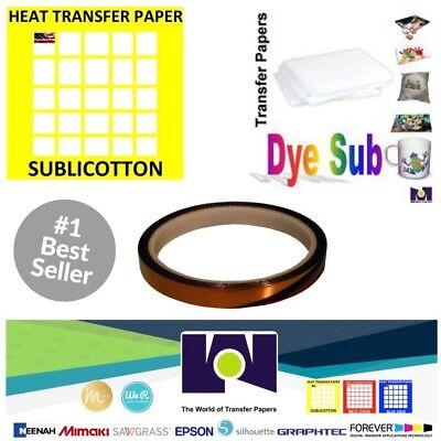 100 Sh Dye Sublimation Transfer Paper 100 Sh Sublicotton 8.5x11 1 Sublitape