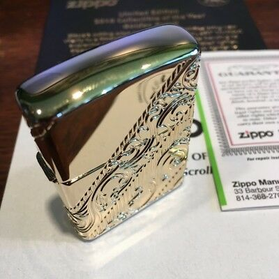 Zippo 29653 Armor 2018 Collectible Of The Year Gold Plated S