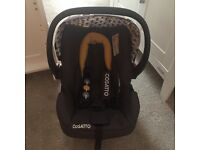 Cosatto Giggle 2 Moonwood Car Seat, brand new newborn head hugger inset. Like new, hardly used.