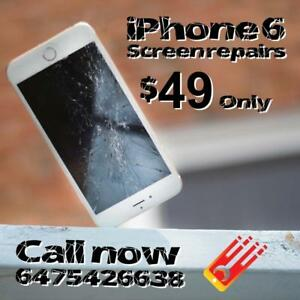 Starting at $49 For iPhone 6! - We Fix Cracked iPhone 8, 8 Plus, 7 Plus, 7, 6s, 6, 5s, 5C, SE