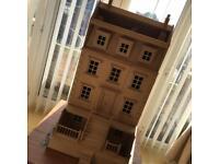 Victorian wooden dolls house