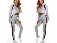 Gucci Style Crop Tracksuits