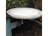 Garden marble mosaic garden table