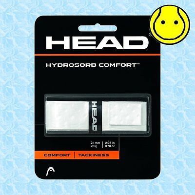 Head Hydrosorb Comfort White - Tacky Replacement Tennis Grip Replacement Grip Head