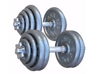 TurnerMAX Cast Iron Dumbbells Set Weightlifting, Powerlifting,Body Building in 20,30,40,50,60 KG's