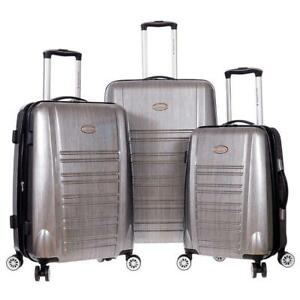 "Air Canada 3 Piece Spinner Set 20"", 24"" and 28"" Hardside Luggage Suitcase [Charcoal]"