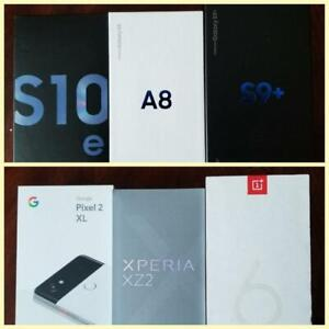 Brand New Samsung Galaxy A8/S9+/S10e/Sony Xperia XZ2/One Plus 6t/Google Pixel2 XL Unlocked!!** Freedom/Bell/Rogers/Telus