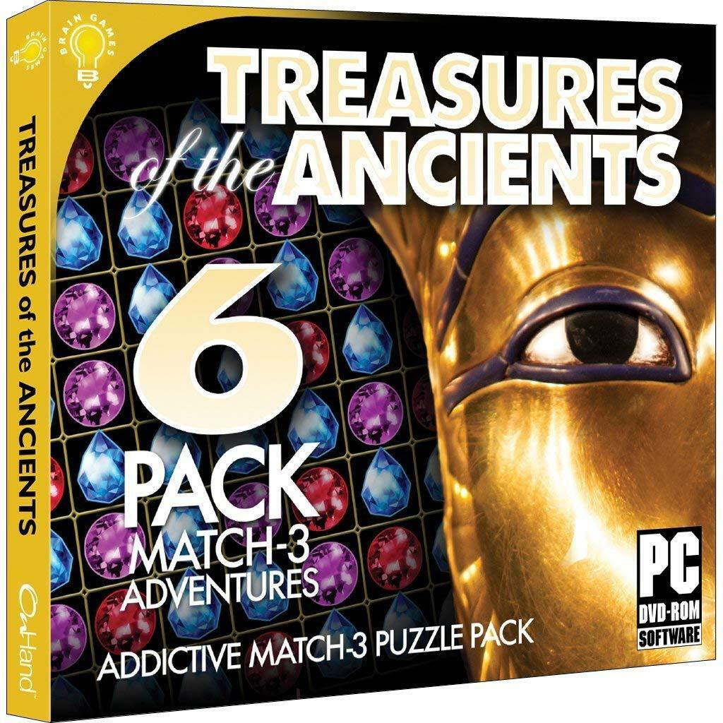 Computer Games - Treasures Of The Ancients PC Games Windows 10 8 7 XP Computer match three puzzle
