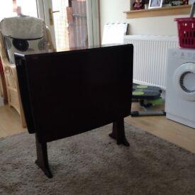 Dining table, dark wood, gate leg