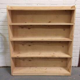 Pine book shelves shelving unit