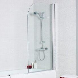 New shower bath glass screen 1400mm