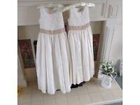 Age 7 and 9 bridesmaid dresses by jaspa Conran