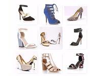 Joblot Women's Ladies high heel shoes 45 pairs of heels all brand new in original boxes