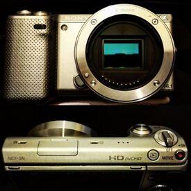 Sony NEX 5N + 18-55mm Lens + Batteries + EF adapter