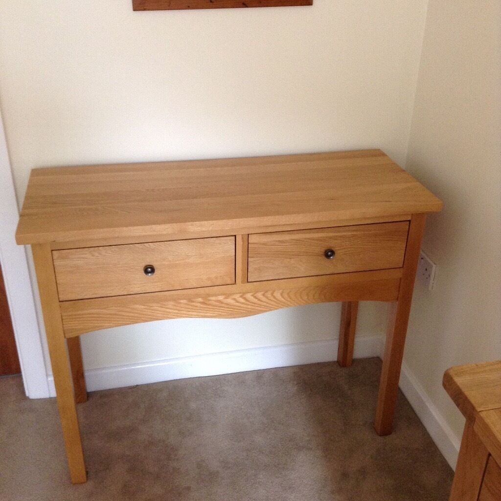 Solid Oak Hall console table with 2 drawersin Beeston, NottinghamshireGumtree - This lovely table is only being sold as I am moving house. It is from the Cairo range (Oak furniture land) and is in excellent condition. Collection only