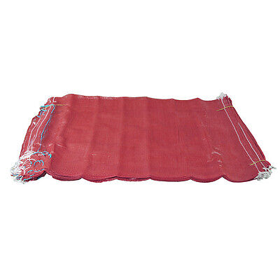 200 Red Net Sacks Mesh Bags Kindling Logs Potatoes Onions 50cm x 80cm / 30Kg