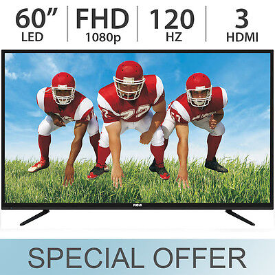 "RCA 60"" Inch FULL HD 1080p LED LCD TV 120Hz w/ 3 HDMI RLED60"