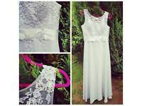 Grey Bridesmaid Dress/Prom Dress
