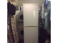 Beko upright fridge freezer good working order 1,87m highX0,6m highX0,6m deep 1 drawer front missing