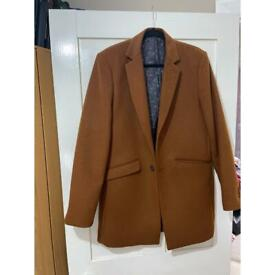 Caramel brown overcoat