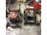 Petrol mowers for repair