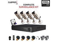 4CH HD DVR Complete CCTV kit 1080p 2.0MP Bullet Cameras In/Outdoor Night vision