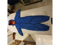 Blue all in one rain suit