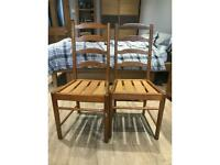 Ercol dining chairs.