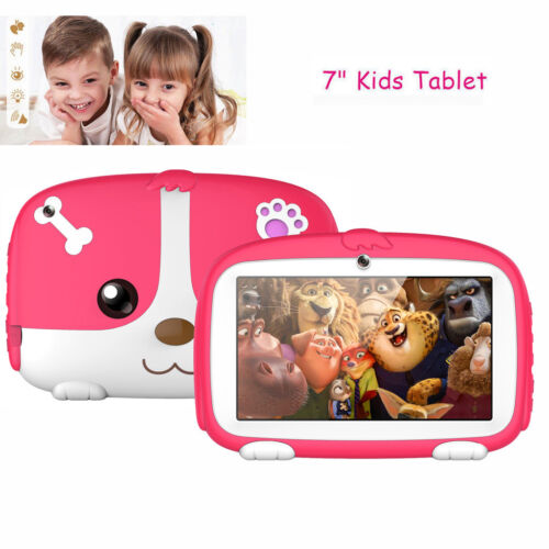 Pink 7'' Tablet 8GB Android 6.0 Dual Camera WiFi Quad Core For Kids Gift