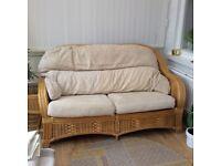 Conservatory furniture, two seater, armchair and two tables