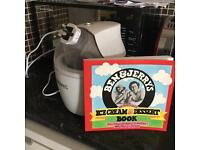 Ice cream maker with Ben & Jerry's homemade ice cream recipe book