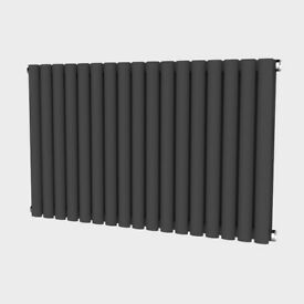 Oval 635mm x 1003mm Double Radiator Horizontal Anthracite