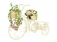 Plant Stand Bicycle Shape Vintage Style Metal-245931